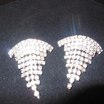Rhinestone shoe clips - Costume Jewelry