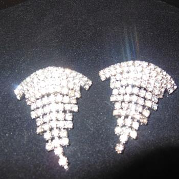 Rhinestone shoe clips