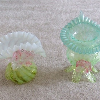 Victorian Art Glass Vases-- Kralik?? - Art Glass