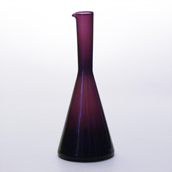 Purple jug, Kjell Blmberg (Gullaskruf, 1950s) - Art Glass