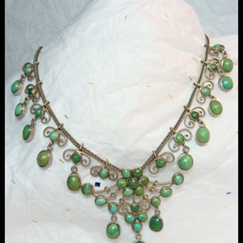 Victorian Turquoise Necklace - Fine Jewelry