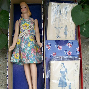 1940's Peggy McCall Mannequin doll in box with patterns