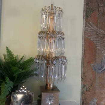 Vintage Crystal Waterfall (boudoir) Lamps
