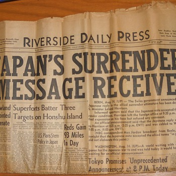 Japan Surrenders - Military and Wartime