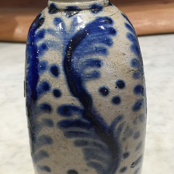 More pics of stoneware flask