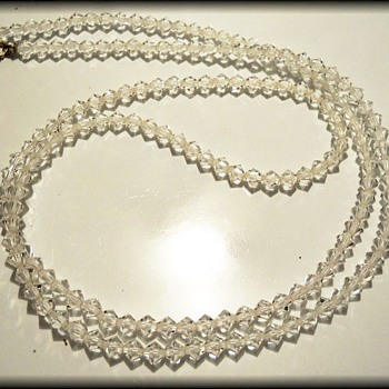 Vintage Crystal Necklace - Costume Jewelry