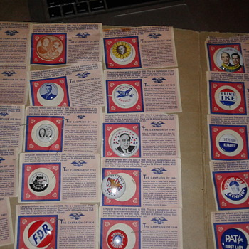 Campaign Pin Collection 1896- 1960