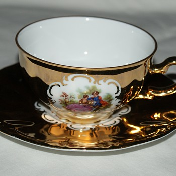 L. Parbus Bavaria Germany Oberkotzau Cup and Saucer - China and Dinnerware