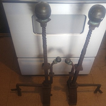 Antique Andirons / Fire Dogs  - Victorian Era