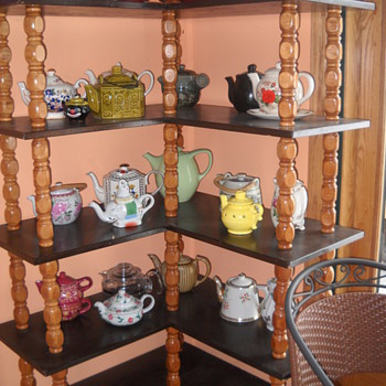 Mom's teapot collection