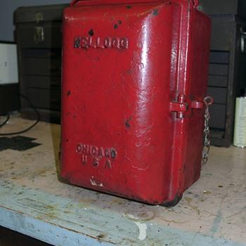 Strange Kellogg in cast iron case