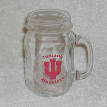 Indiana University Glass Mug - Glassware