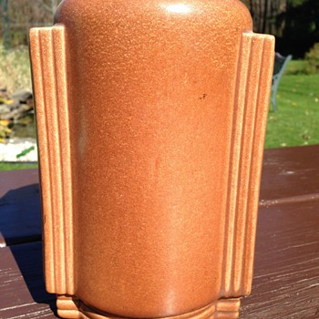 Red Wing 761 Art Deco Vase - Art Pottery