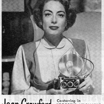 1951 - Joan Crawford for Realist Cameras - Advertisement