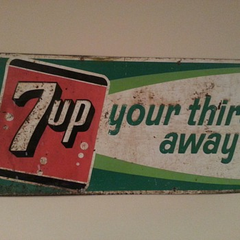 7 up metal sign