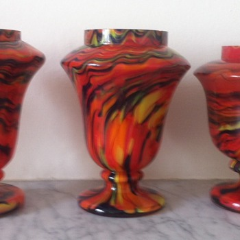 3 tango glass vases and shape comparison - Art Glass