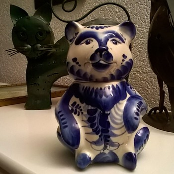 Pretty Hand Painted Porcelain Bear - Poland? Spain?