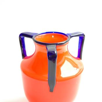 bohemian loetz tango glass vase
