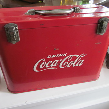 Coca Cola Cooler and Shopping Cart Coke holder