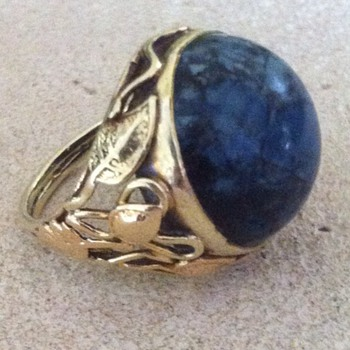 Arts and crafts 14k sodalite ring. - Fine Jewelry