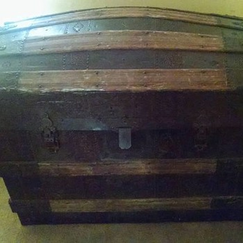 Antique domed trunk