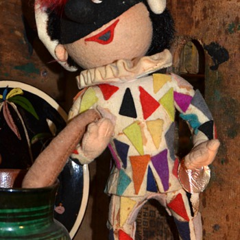 Court Juggler - Felt Doll by Rosalba in Italy
