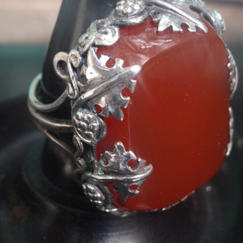 Arts & Crafts Carnelian Ring - Arts and Crafts