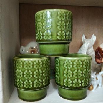 Japan clover flower pots - Pottery