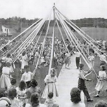 Happy May Day and Dancing around The May Pole History - Photographs