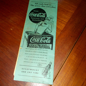1930s Coca-Cola Sponsored AAA TripTik - Coca-Cola