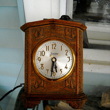my recent garage sale purchase - Sessions clock - Clocks