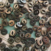 "DIMINUTIVE vintage MOP buttons black 1/4"" new old stock"