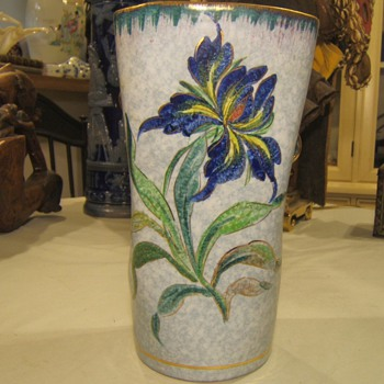 Unusual Iris Vase ? - Art Pottery