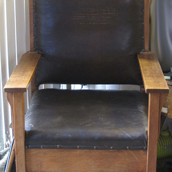 All original Arts & Crafts era oak chair