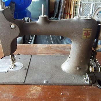 Antique Montgomery Ward Sewing Machine - Sewing
