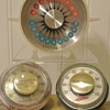 Vintage Honeywell Thermometers - Minneapolis Casket Co & Red Feather Society