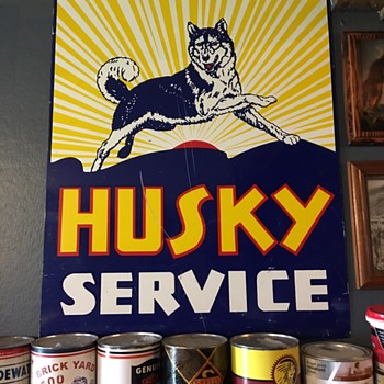 Husky service gas station