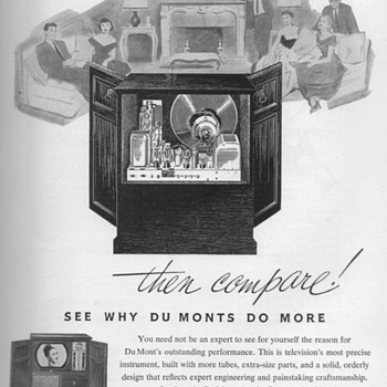 1952 - DuMont Console Television Advertisement - Advertising
