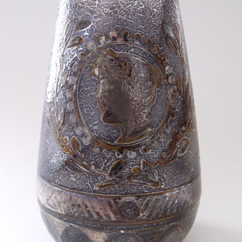 Bohemian or French vase with Portrait.