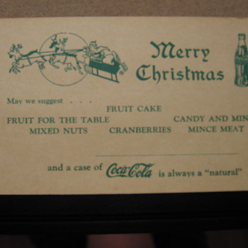 Coca-Cola Blotter and Postcard
