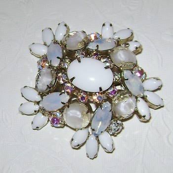 Unsigned Brooch and Bracelet - Costume Jewelry