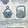 1891 Falkner &amp; Stern Advertisment for Victorian Bohemian Baskets...