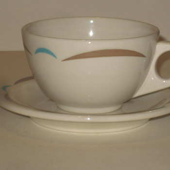 Homer Laughlin cup and saucer - China and Dinnerware