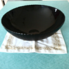 "Pure 14"" black crystal bowl"