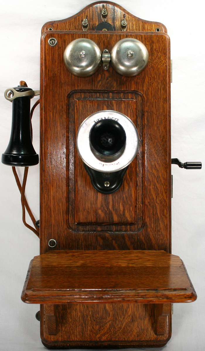 Vintage oak kellogg cathedral wall telephone collectors weekly