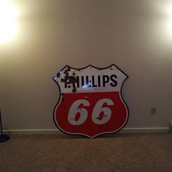 phillips 66 sign very large