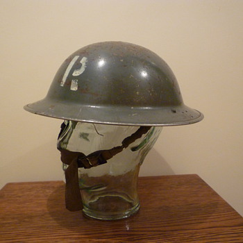 British WWII Civil Defence Rescue steel helmet