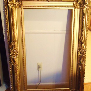 Frame, old, big three frames in one, painting, well Priceless! - Visual Art