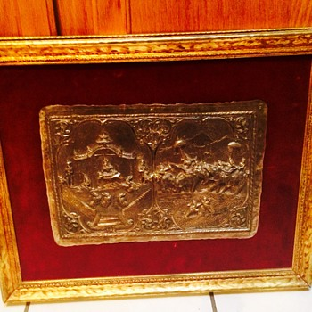 Antique Silver Plaque - Sterling Silver