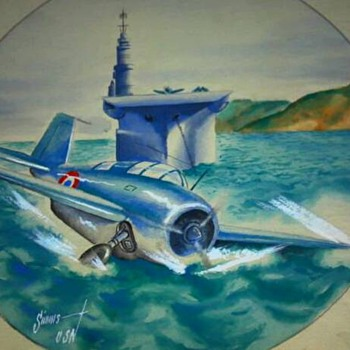WW2 ORIGINAL ARTWORK DONE IN THE PACIFIC